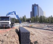 Murs de contenció amb gabions (Comercial Lebrero) Can Rigal 1