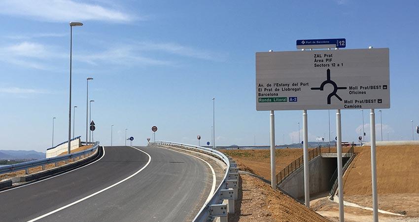 El Port de Barcelona construeix una de les vies d'accés portuari amb Àrid Siderúrgic, l'Eix 14 Tram TERCAT
